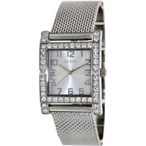 Reloj Para Dama Guess W0130l1 Duradera Elegante Crystal Mesh