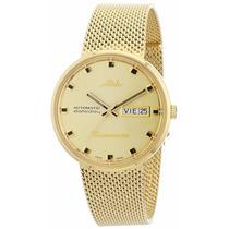 Reloj Mido Commander M842932213n Original Intertempo
