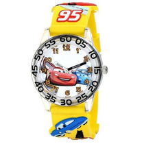 Reloj Disney Cars Con Extensible Amarillo 3-d