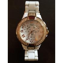 Hermoso Reloj Para Dama Blanco Marca Guess Original!!!