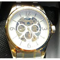 Reloj Caballero Tag Heuer Automático Dorado Envío Gratis
