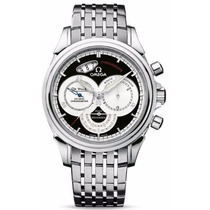 Reloj Omega Deville Chronoscope Acero Negro 45505000