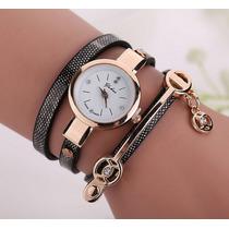 Relojes Dama Piel Calidad Moda Vintage Mayoreo Reloj Mujer