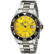 Pro Diver Automático Amarillo Dos Tono Reloj De Acero Inox
