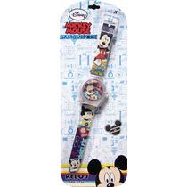 Reloj Análogo Mickey Mouse Disney De Pulsera 7 Años