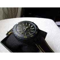 Precioso Reloj Puma Negro Caucho Grande Subasta 1 Peso
