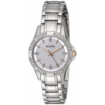 Reloj Bulova Diamond Collection Acero Inox Plateado 98l180