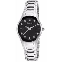 Reloj Bulova Diamond Collection Mujer Negro 96p146