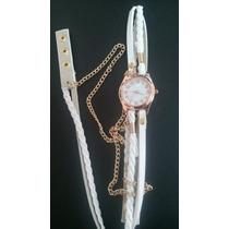 Reloj Brazalete Moderno Fashion Elegante Blanco Juvenil