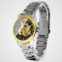 Reloj Automático Caballero Hombre Acero Maquinaria Elegante