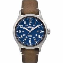 Reloj Timex Outdoor Color Camel 100% Piel Cara Azul