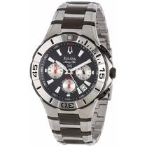 Reloj Bulova Marine Star Acero Cronógrafo 98b013 Garantia