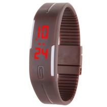 Relógio De Pulso Esportivo Fino Ultra Digital Com Led