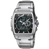 Reloj Casio Efa 120 Piel Termometro Sumergible Antirayas