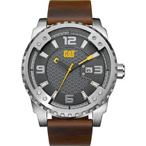 Cat Watches Grid 52mm Piel Acero Grande Sc14135521 Diego:vez