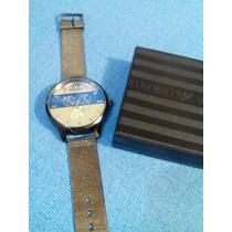 Reloj De Hombre Armani Ax Correa De Petatillo Metalico