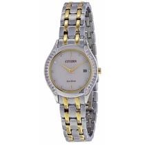 Reloj Citizen Eco-drive Acero Dorado Mujer Ga1064-56a