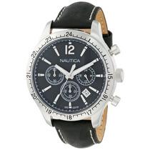 Reloj Nautica N16659g Cronografo Piel Envio Gratis