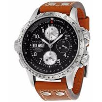 Reloj Hamilton Khaki X Crono Auto Piel Cafe, Negro H77616533