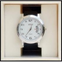 Reloj Movimiento Cuarzo. Carátula Blanca, Elegante Fechador