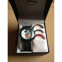 Reloj Mickey Mouse Tipo Boubble Disney Con 4 Biseles 42mm