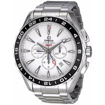 Reloj Omega Seamaster Gmt Automático Blanco 23110445204001