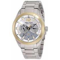Reloj Nautica Hombre Plata Multifuncional N11577g