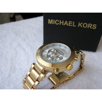 Moderno Reloj Michael Kors Oro / Plata Combinado Subasta 1
