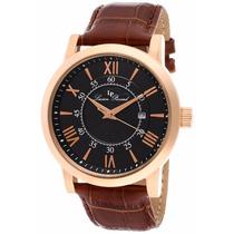 Reloj Lucien Piccard Stockhorn Dorado Piel Café 11577-rg-01