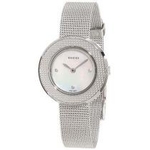 Reloj De Acero Inoxidable De La Mujer Gucci Ya U-play\ Co