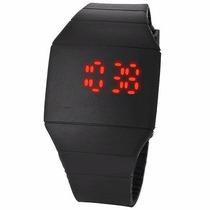 Reloj De Silicon Negro Para Dama Y Caballero Display Led