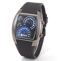 Reloj Led Aviation Velocimetro Deportivo Luces Novedoso Omm
