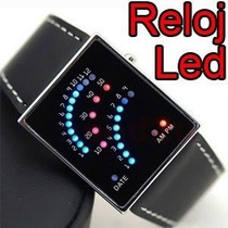 Reloj Binario 29 Leds Blue Light. Unisex Omm