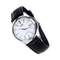 Reloj Casio Mtp 1183 Acero Piel Cristal Mineral Fechador