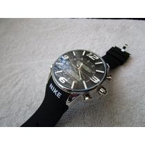 Excelente Reloj Nike Digital Caucho Negro Subasta 1 Peso