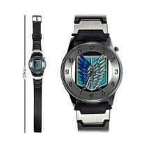 Reloj De Mano Shingeki No Kiojin Escudo Con Correa Delgada!