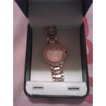 Reloj Color Rosa Metalico Nyc