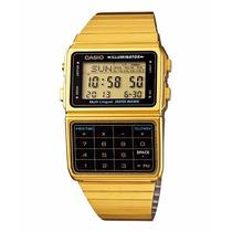 Reloj Original Casio Calculadora Dorado Unisex Mod. Bdc-611g