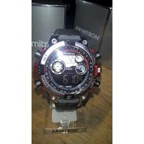 Reloj Deportivo Armitron De Hombre. Reloj Dijital. Rojo.