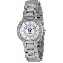 Reloj Bulova Precsionist Diamond Case Mujer Blanca 96r169