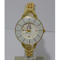 Reloj Mujer Calvin Klein Ck Oro Excelente Regalo