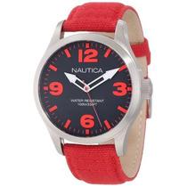 Reloj Nautica N11559g Rojo Masculino