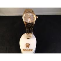 Rolex Oyster Perpetual De Oro 18 Kt,con Cristal Mica Auto