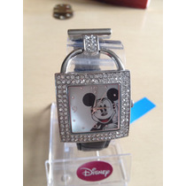 Reloj De Mickey Mouse Dama De Disney Acero Brillantes Nuevo