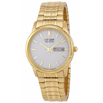 Reloj Citizen Eco-drive Acero Inox Dorado Bm8452-99p