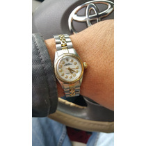Reloj Rolex De Dama,acero - Oro, Con Diamantes