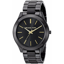Reloj Michael Kors Mk3221 Acero Negro Para Dama