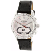 Reloj Victorinox Classic Cronógrafo Piel Negra 241703