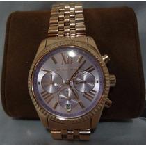 Michael Kors, Reloj Para Dama En Fino Acabado Tipo Oro Rosa