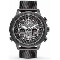 Reloj Citizen Eco-drive Atomico Navihawk Negro Jy8037-50e